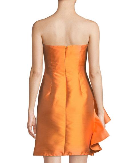 Ortakoy Strapless Side-Ruffle Mini Dress