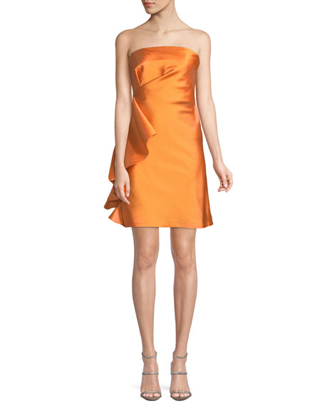 Sachin & Babi Ortakoy Strapless Side-Ruffle Mini Dress