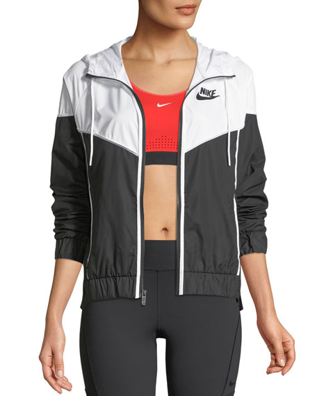 Nike Windrunner Hooded Zip-Front Track Jacket