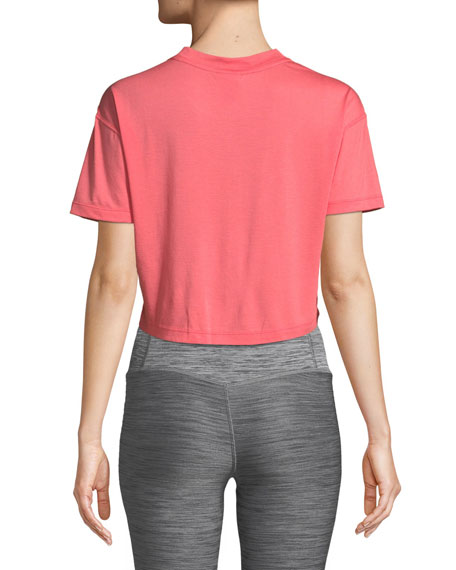 Essential Short-Sleeve Crop Top