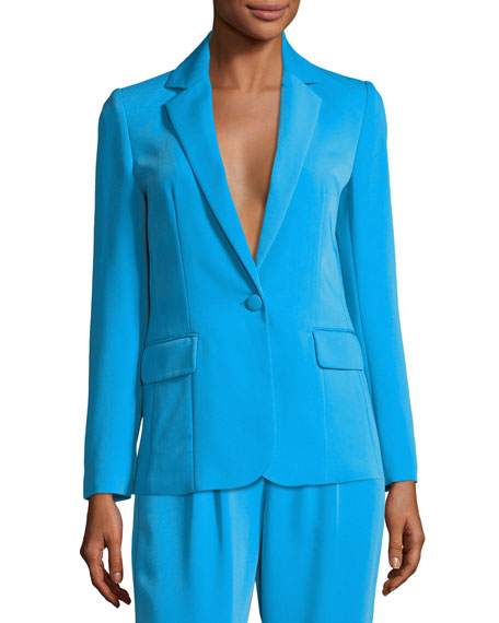 FRAME True Notched-Collar One-Button Blazer