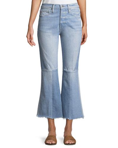 Le Panel Block Cropped Flare-Leg Jeans