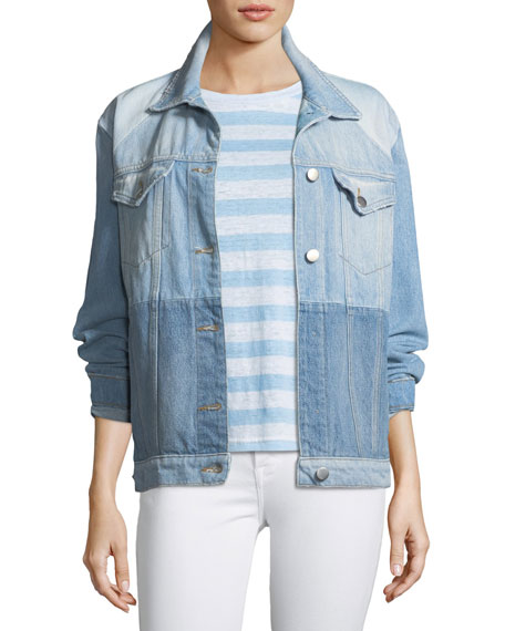FRAME Le Panel Block Denim Jacket