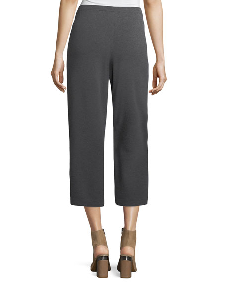 Washable Wool Crepe Cropped Pants