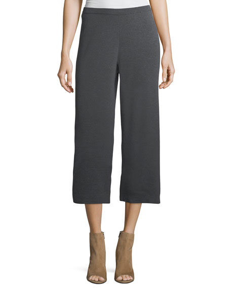 Eileen Fisher Washable Wool Crepe Cropped Pants