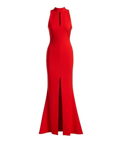 Harbor Sleeveless Keyhole Mermaid Gown
