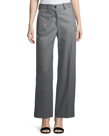 Rag & Bone Crane Wool-Blend Wide-Leg Pants
