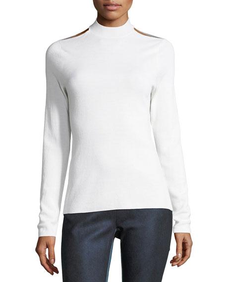 Elie Tahari Gina Cutout Extrafine Merino Sweater