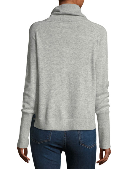 Oliver Funnel-Neck Pullover Cashmere Sweater