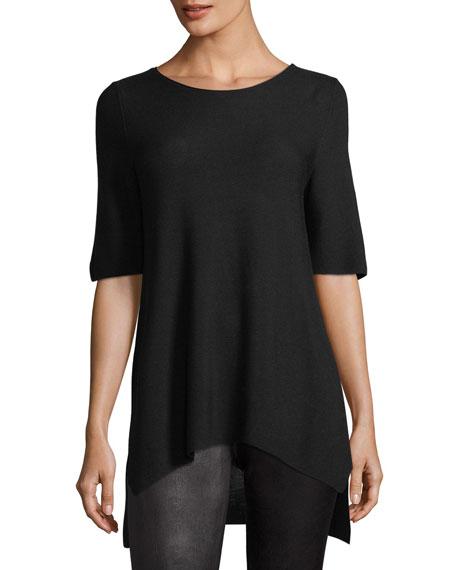 Eileen Fisher Half-Sleeve Tencel Links Sweater, Plus Size