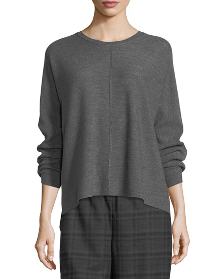 Eileen Fisher Fine Merino Links Boxy Pullover