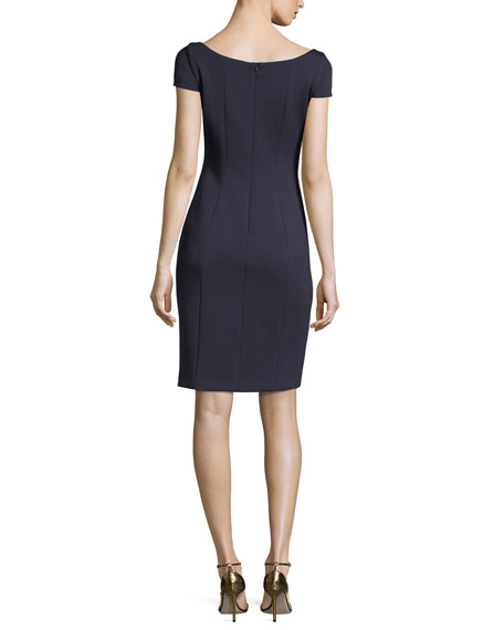 Bernice Short-Sleeve Fitted Dress