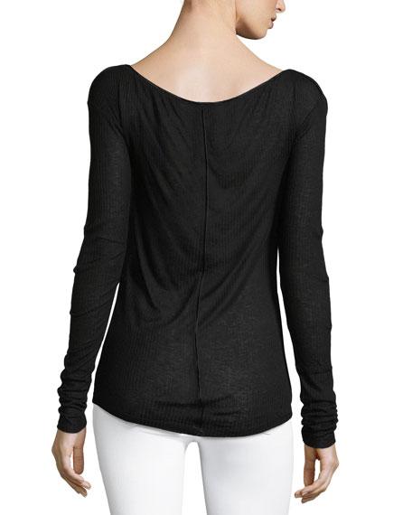Madison Ribbed Boat-Neck Sweater
