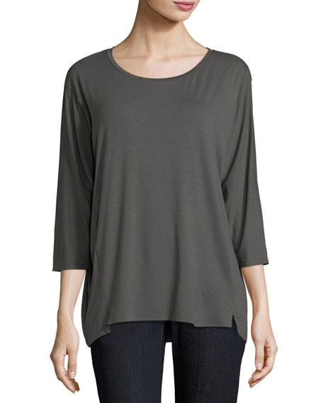 Eileen Fisher 3/4-Sleeve Jersey Top, Petite