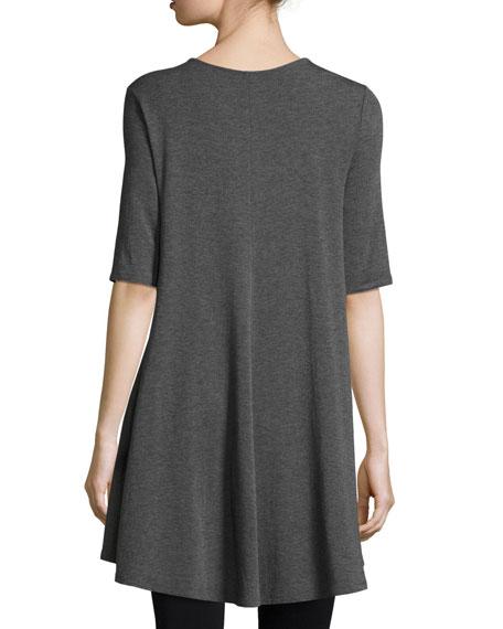 Half-Sleeve Jersey Tunic, Petite