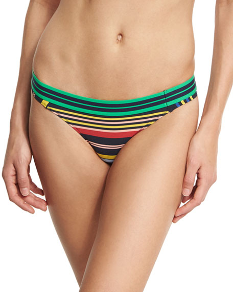 Striped Classic Bikini Swim Bikini Bottom