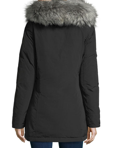 Luxury Arctic Hooded Parka Coat w/ Fur