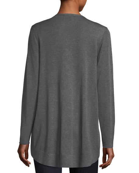 Long Slouchy Sleek Knit Cardigan