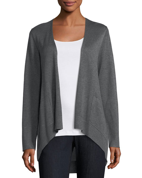 Eileen Fisher Long Slouchy Sleek Knit Cardigan