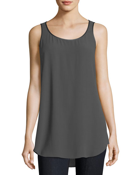 Eileen Fisher Silk Georgette Tank