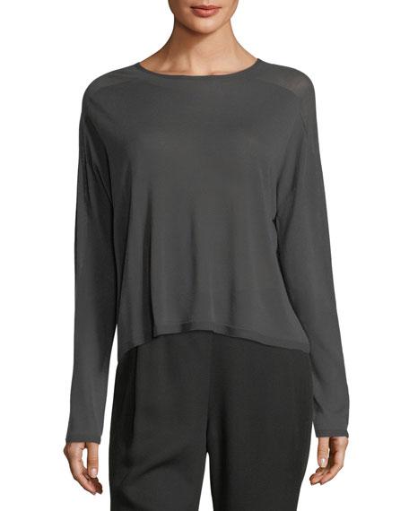 Seamless Sleek Funnel-Neck Top, Plus Size