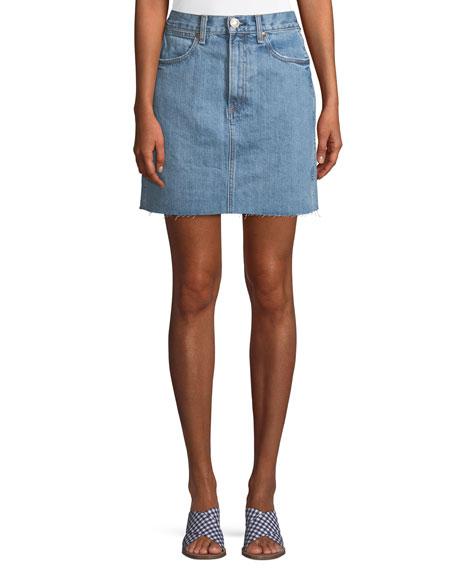 Moss Denim Mini Skirt