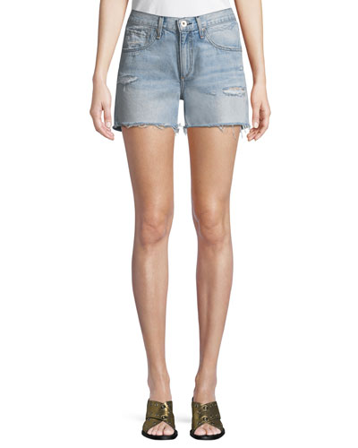Cutoff Distressed Denim Shorts