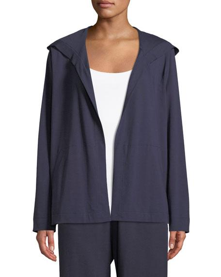Organic Cotton Jersey Hooded Cardigan, Petite