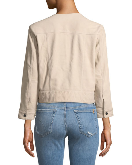 Joey Zip-Front Leather Jacket