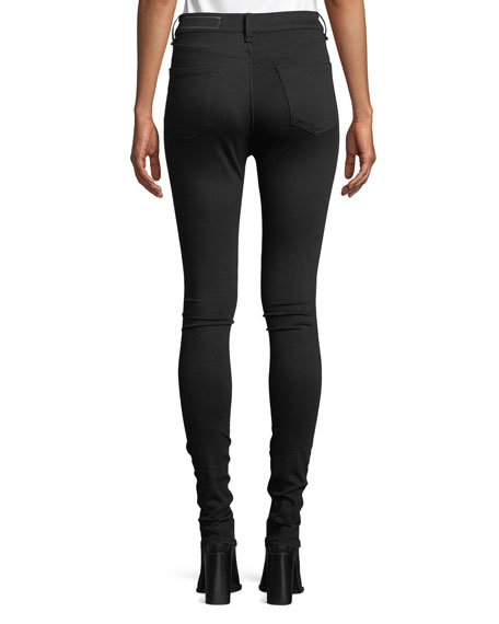 Isabel High-Rise Moto-Inspired Skinny Jeans