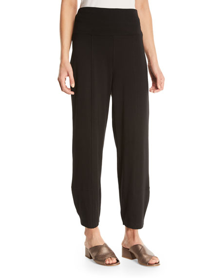 Eileen Fisher Organic Stretch Cotton Fold-Waist Cropped Lantern