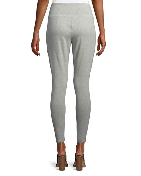 Skinny Stretch Jersey Ankle Pants, Petite