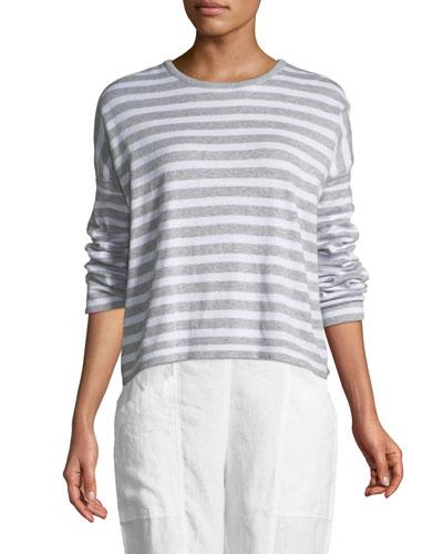 Organic Linen Striped Sweatshirt