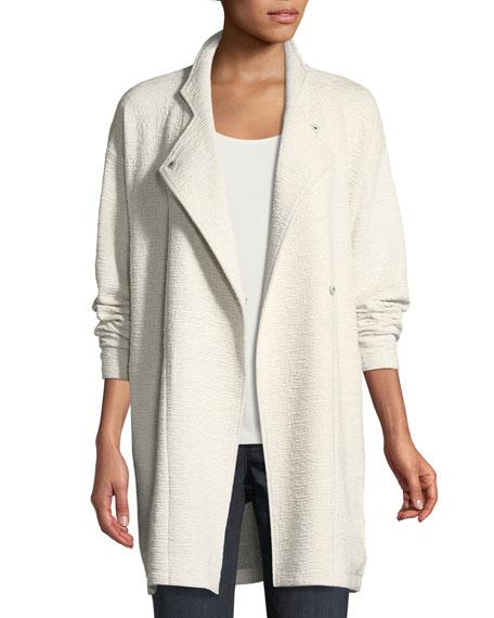 Eileen Fisher Double-Knit Jacquard Kimono Jacket, Petite