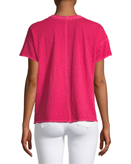 Crewneck Short-Sleeve Cotton Pocket T-Shirt