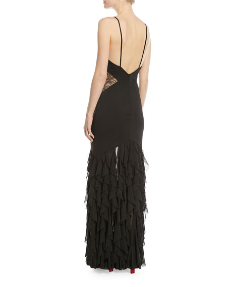 The Abby Sleeveless Lace Column Gown