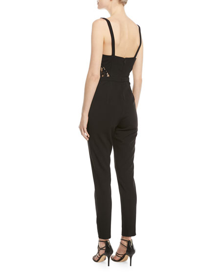 The Millie Lace-Side Cami-Top Fitted Jumpsuit