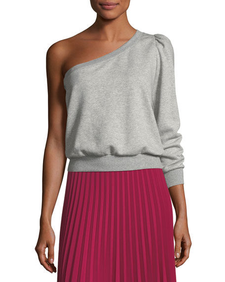 Crane One-Shoulder Sweatshirt