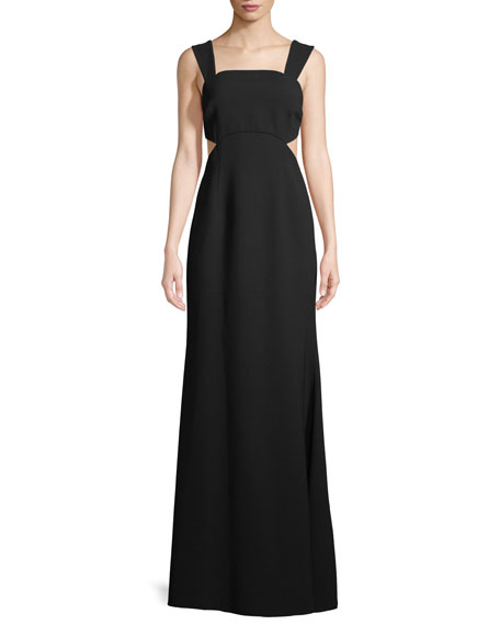 Jill Jill Stuart Cutout Square-Neck Sleeveless Gown