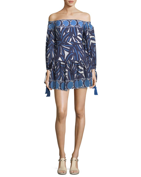 Alexis Laila Off-the-Shoulder Printed Short Dress