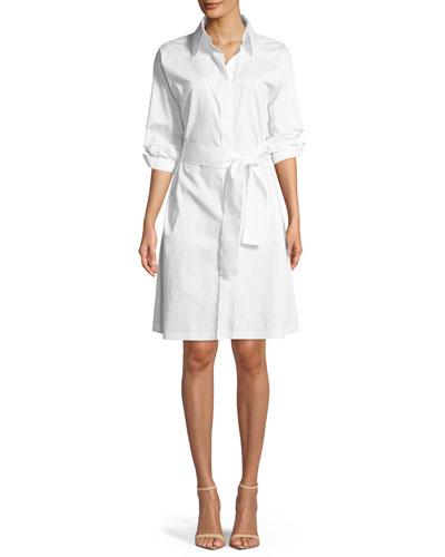 Cotton Shirt Dress w/ Zebra Graphic