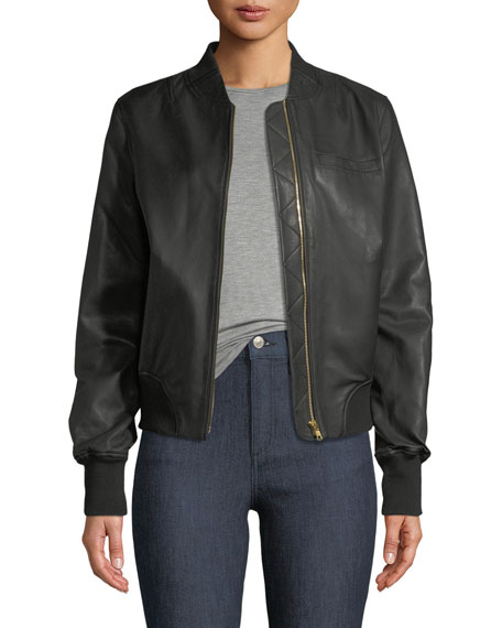 Grasslands Leather Bomber Jacket