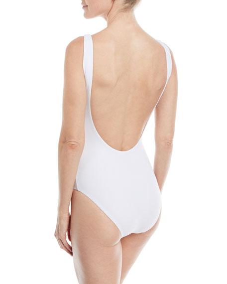 Kelly Watermelon One-Piece Low-Back Swimsuit