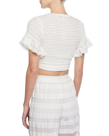Knit Combo Side-Tie Crop Top