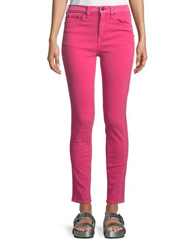 High-Rise Skinny-Leg Jeans