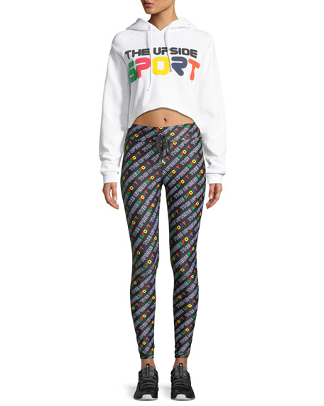 Sport Logo-Print Full-Length Leggings