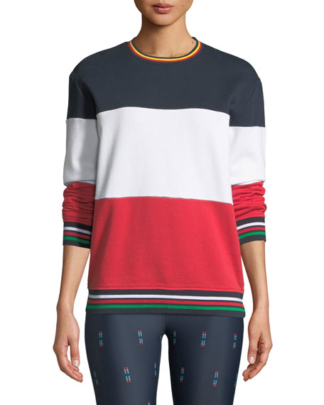 The Upside Colorblock Crewneck French Terry Sweatshirt