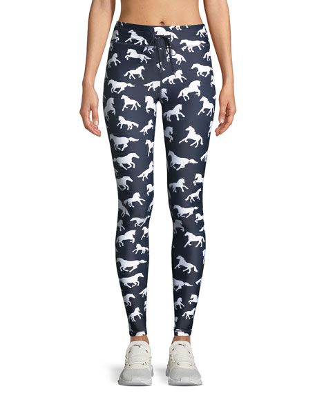The Upside Horses Drawstring Yoga Leggings