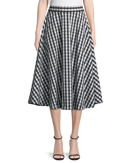 gingham cotton circle skirt