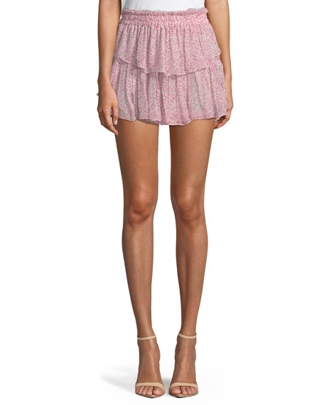 Loveshackfancy Tiered Ruffle Mini Skirt